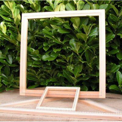 24″ Square Oak Frame Pin Loom 600mm