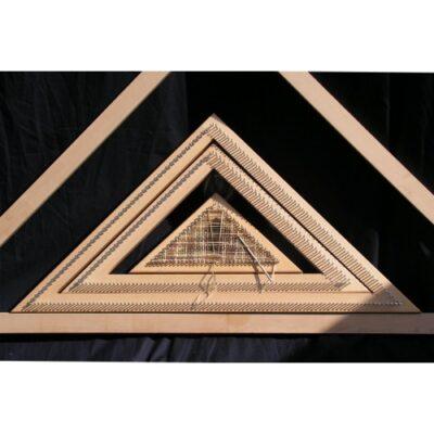 (tr4) 18″ Tri Loom Oak Frame 45cm