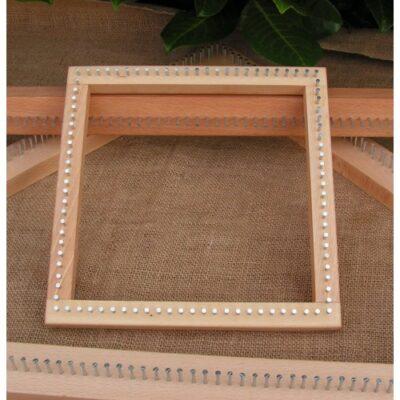 sq2 – A 9″ Square Oak Frame Pin Loom 230mm