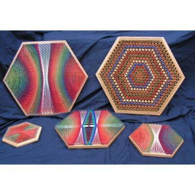Hexagonal Pin Loom 9″