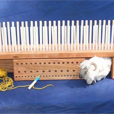 Cherry Peg Loom – 48″ (1.2m) long – 3 rows