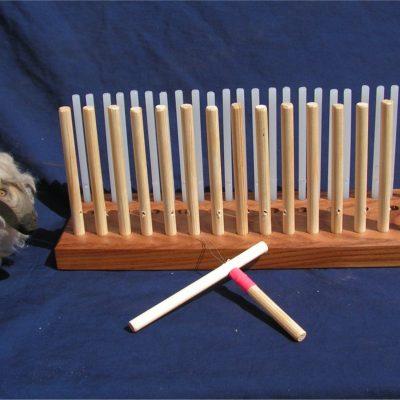 "Elm Peg Loom – 12 ""  30cm – 3 rows"